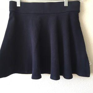 Hollister Navy blue swing skirt